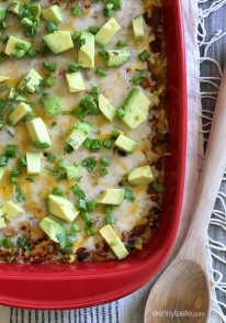 Because I'm enchilada obsessed this is my favorite way to eat quinoa!