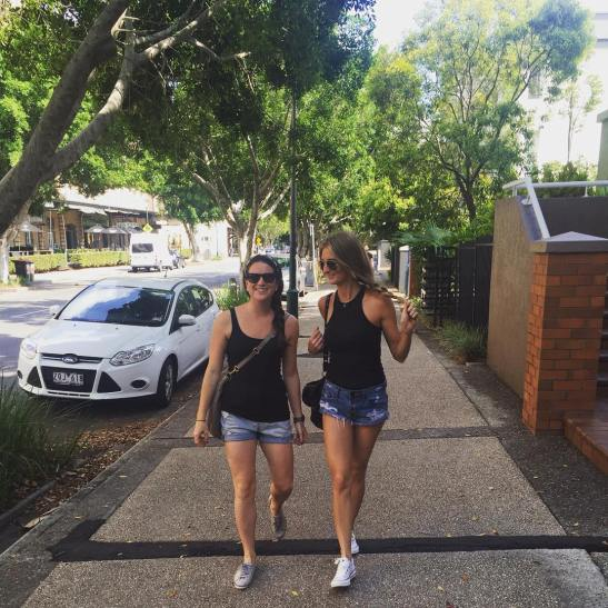 Just two Texan gal pals casually strolling through the neighborhood in matching ensembles. #notplanned #boosandroos